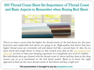 300 Thread Count Sheet Set Importance of Thread Count and Basic Aspects to Remember when Buying Bed Sheet