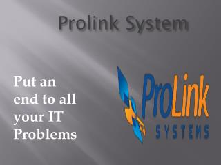 I.T Consulting Company Los Angeles, California - Prolink