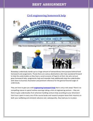 Civil engineering homework help