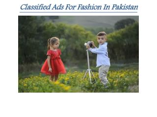 Classified Ads for fashion in Pakistan