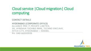 Cloud migration|Cloud hosting |Cloud migration service