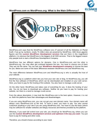 WordPress.com vs WordPress.org: What is the Main Difference?
