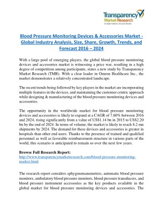 Blood Pressure Monitoring Devices Market will rise to US$ 3.8 Billion by 2023