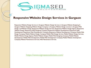 Responsive Website Designing Services in Gurgaon