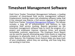Time Tracking With Flexible Time Management