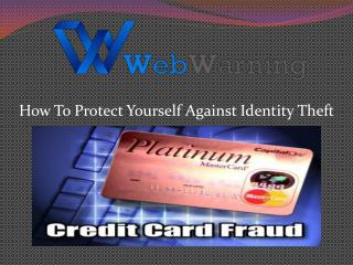 How To Prevent Credit Card Theft