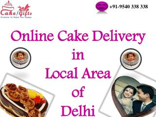 Cake Delivery Services of CakenGifts.in in Delhi