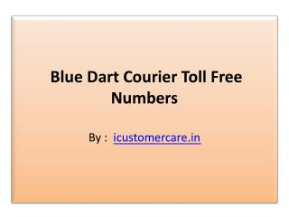 Blue Dart Contact Number and Email Address