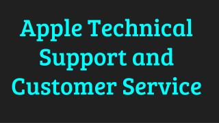 Apple Technical Support and Customer Service