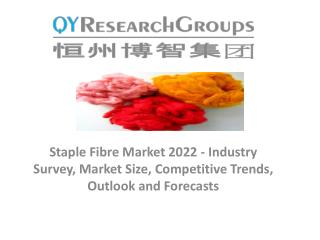 Staple Fibre Market 2017 - Industry Analysis, Size, Share, Growth, Trends and Forecast 2022