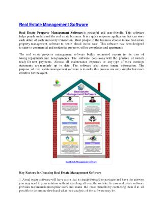 Real Estate Software Pune