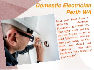 Domestic Electrician Perth WA