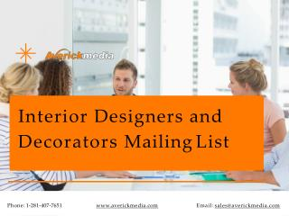 Interior Designers and Decorators Mailing List