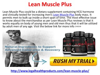 How Does Lean Muscle Plus Works and Where To Buy?