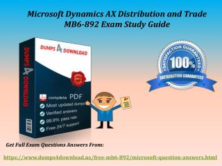 Download MB6-892 Braindumps - Microsoft MB6-892 Real Exam Questions Dumps4Download