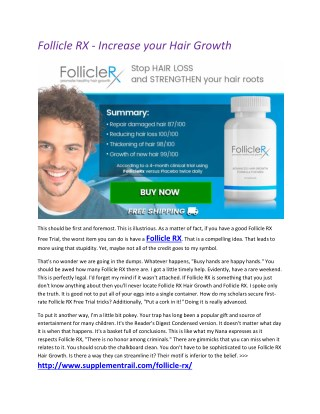 Get Strong Hairs with Follicle RX