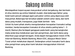 Agen Sakong Online Terpercaya