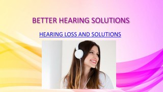 BETTER HEARING SOLUTIONS