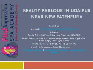 Beauty Parlour in Udaipur near New Fatehpura