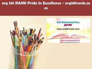 org 581 RANK Pride In Excellence /org581rank.com