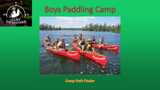 Boys Paddling Camp