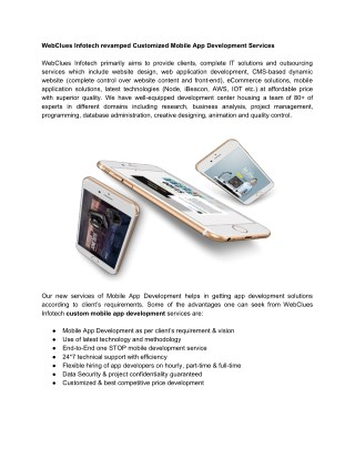 Mobile App Development, iOS and Android App, iBeacon & Hybrid App Development