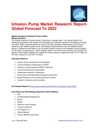 Infusion Pump Market Research Report- Global Forecast To 2023