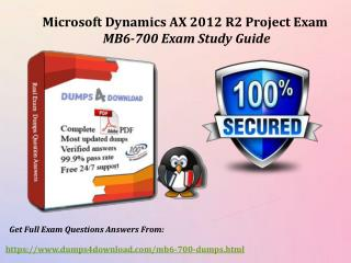 MB6-700 Dumps With Real Exam Question Answers - Dumps4download.com