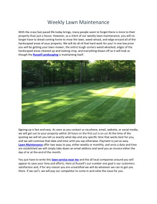 Lawn Care Wilmington MA