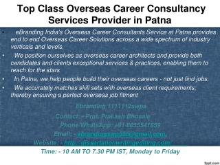 Class Overseas Career Consultancy Services Provider in Patna