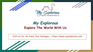 My Explorous -Explore The World With Us