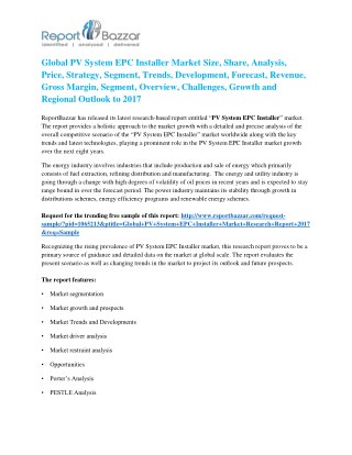 PV System EPC Installer Market to Record Ascending Growth by 2017