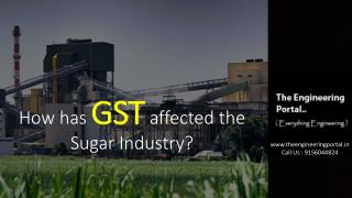 How has GST affected the Sugar Industry?