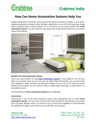 What Are The Benefits of Home Automation Systems?