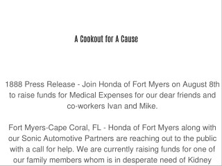 A Cookout for A Cause