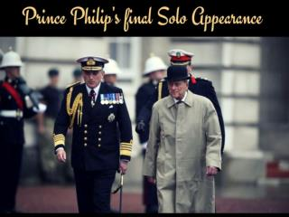 Prince Philip Attends His Official FInal Engagement