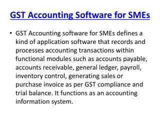 GST Accounting Software SMEs
