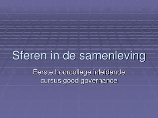 Sferen in de samenleving