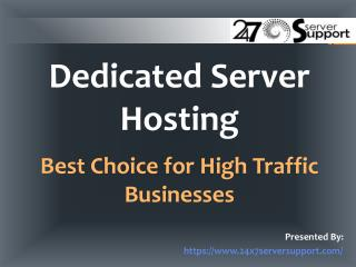 Dedicated Server Hosting for high Traffic Business