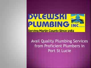Avail Quality Plumbing Services from Proficient Plumbers in Port St Lucie