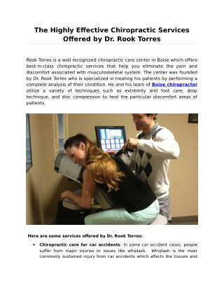 For Cardiac Pain Meet Chiropractor Rook Torres in Boise