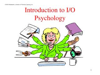 Introduction to I/O Psychology