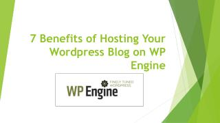 7 Benefits of Hosting Your Wordpress Blog on WP Engine