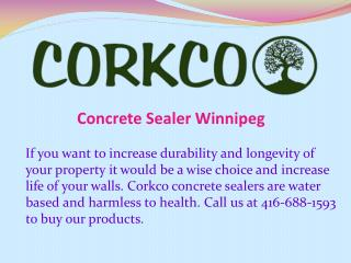 Concrete Sealer Winnipeg