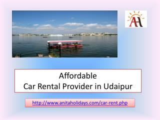 Affordable Car Rental Provider in Udaipur