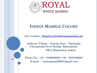 Indian Marble Colors
