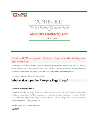 Android App for Magento Store