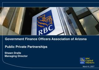Government Finance Officers Association of Arizona Public Private Partnerships