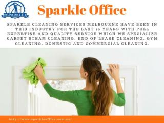 Commercial Cleaning Services Melbourne - Sparkle Office
