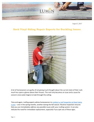 Seek Vinyl Siding Repair Experts for Buckling Issues